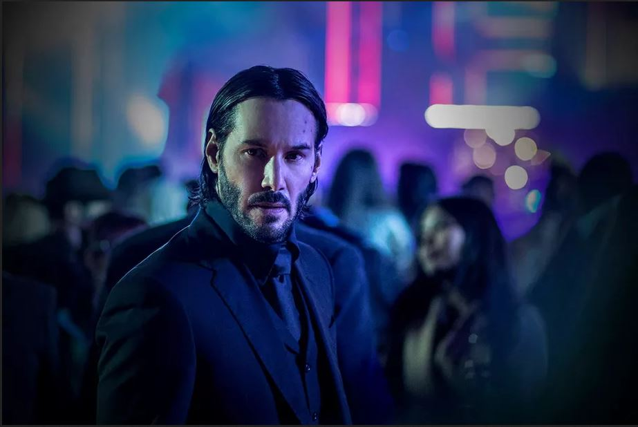 John Wick in a movie