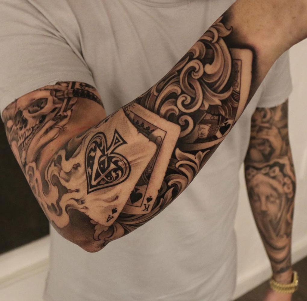 Spielkarten Tattoo