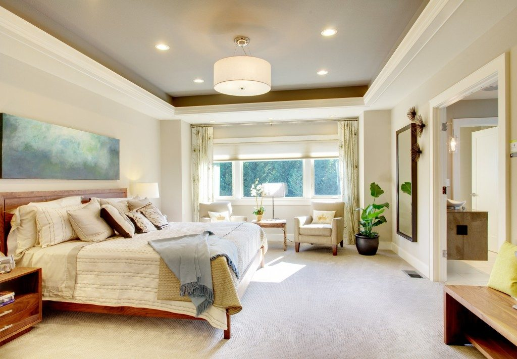 large luxury bedroom interior