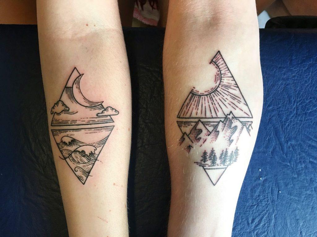 couple-triangle-tattoo