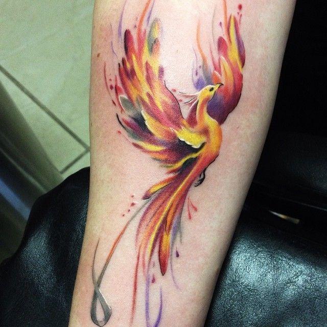 forearm-phoenix-tattoo