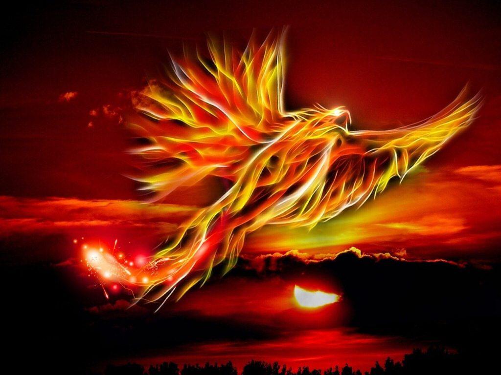 phoenix-flying-at-sunset
