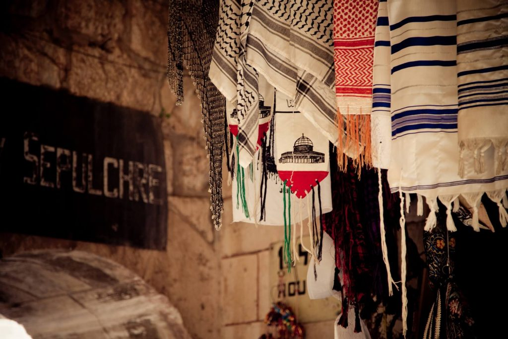 A Talit Keffiyeh and Palestinian scarf