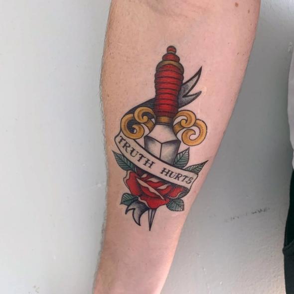 truth hurts tattoo