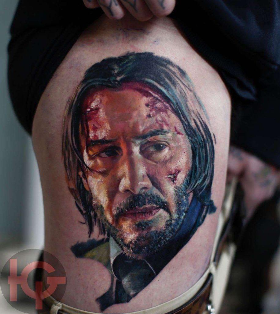 Tattoo of Keanu Reeves