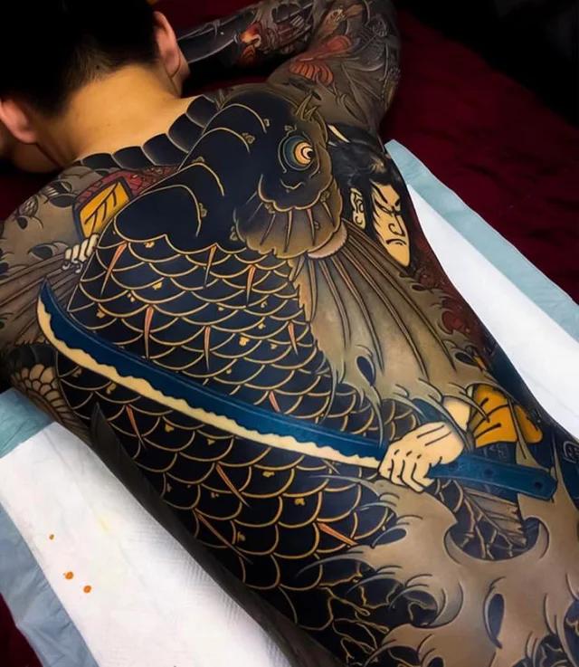 Japanese tattoo on a man