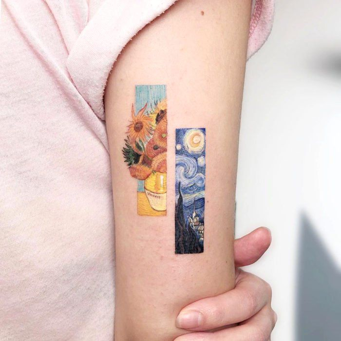 Tattoo of famous paintings