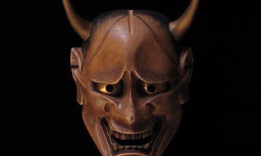 brown Hannya mask