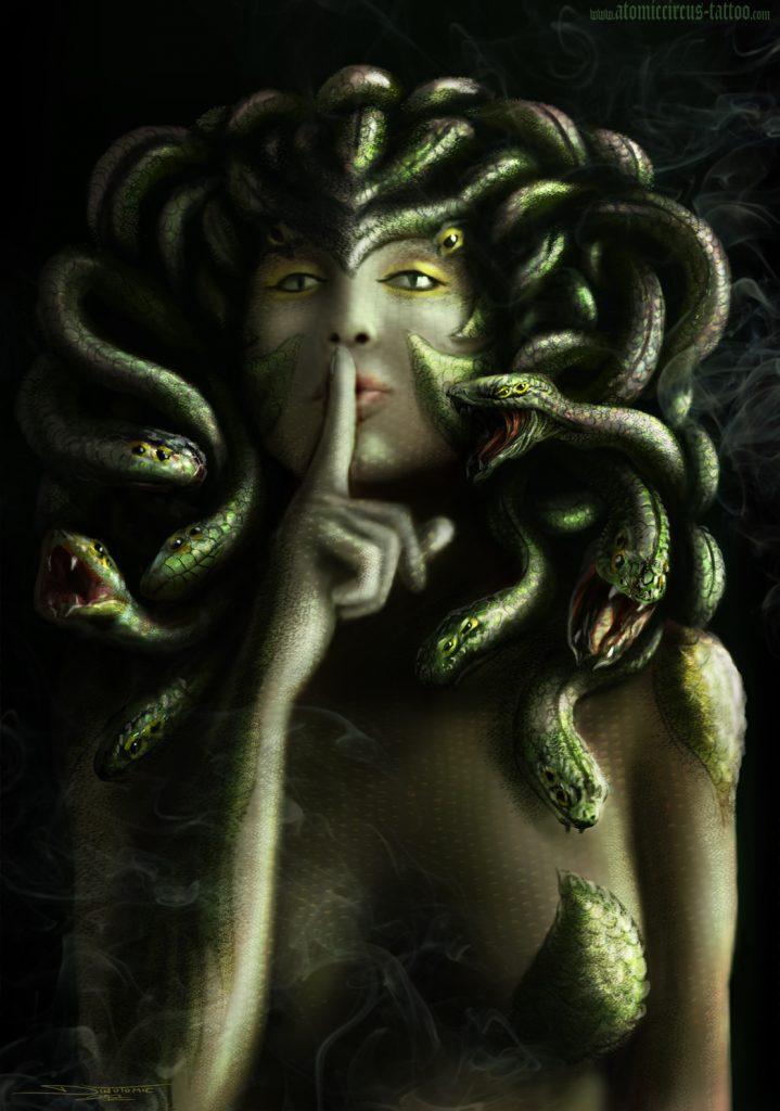 medusa shushing