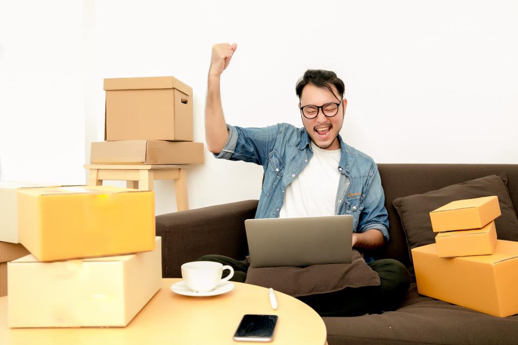 man in e-commerce