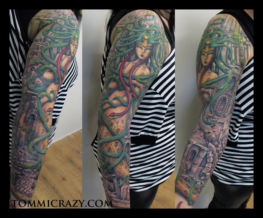 person with medusa sleeve